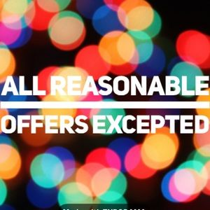 All reasonable offers excepted